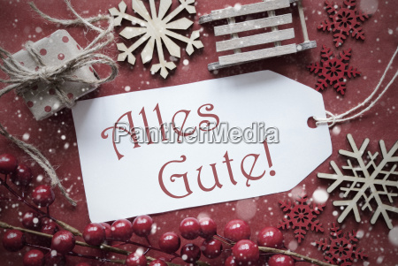 nostalgic christmas decoration label with alles