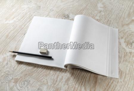 brochure pencil and eraser