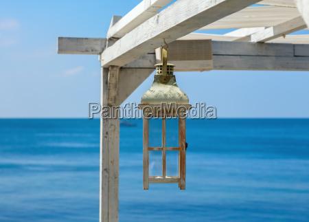 painted white lantern