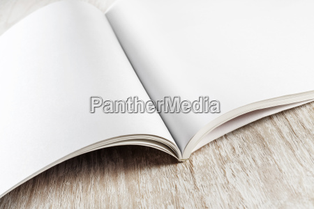 close up of blank book