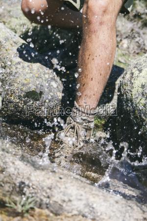 spain hiker with a hiking shoe