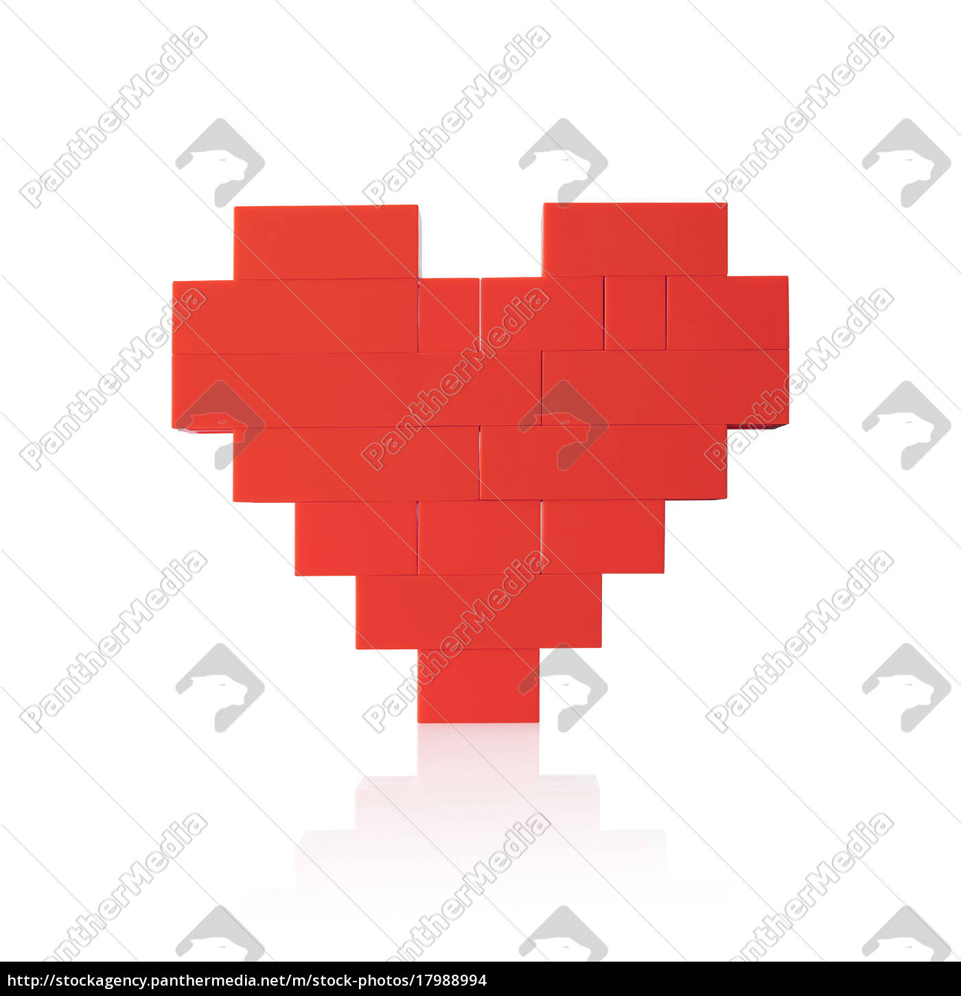 red, heart, on, white, background - 17988994