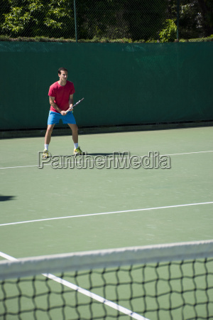 tennis player prepared during a tennis