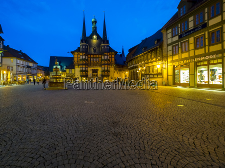 germany saxony anhalt wernigerode townhall and