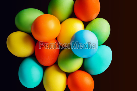 bright colored easter eggs