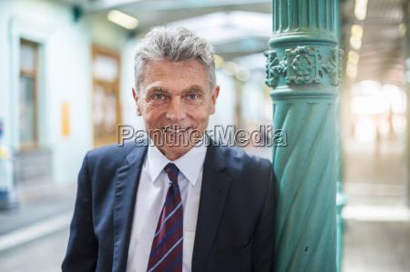 portrait of confident senior businessman at