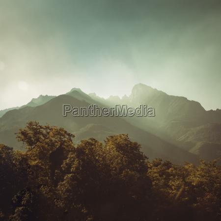 italy spluga sunrise in the alps