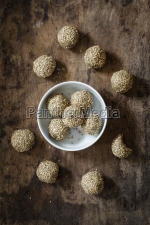 bowl of small vegan balls made