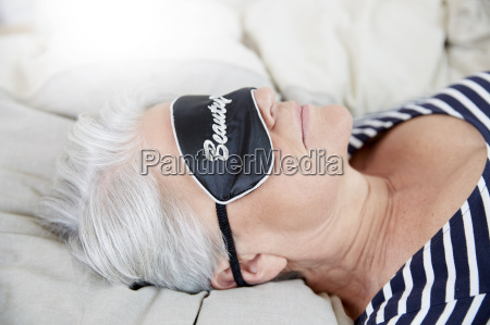 woman with sleep mask