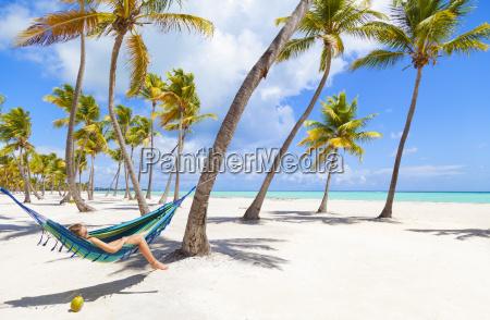 dominican rebublic young woman lying in