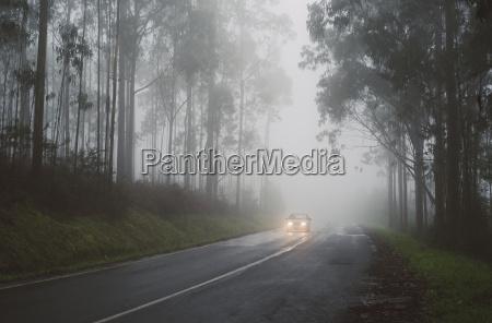 spain galicia ferrol road in a