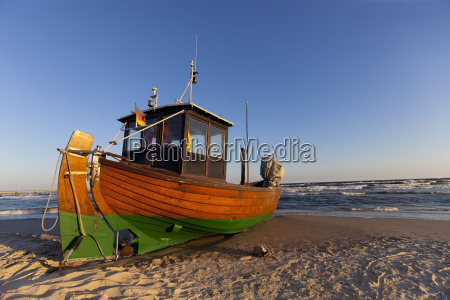 germany usedom island ahlbeck fishing boat