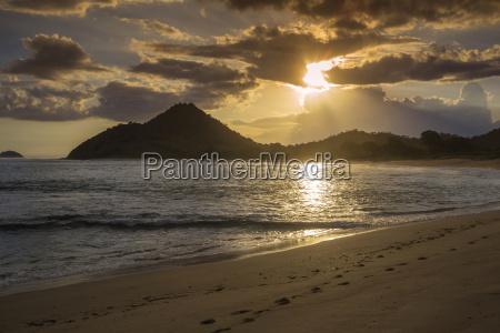 indonesia coastline of sumbawa island at