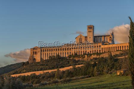 italy umbria assisi basilica of saint