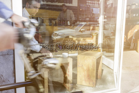 businessman using digital tablet in a