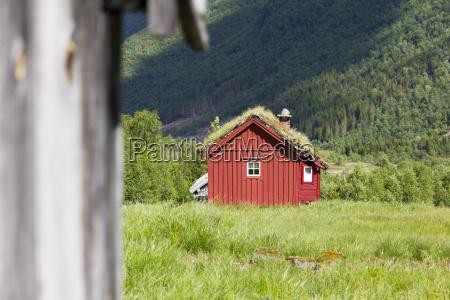 norway wooden hut
