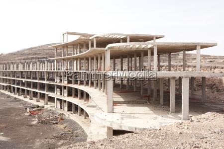 spain fuerteventura building shell of a