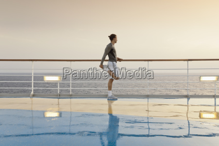 young man doing exercises on a