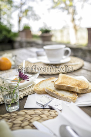 bread flower yogurt and cup of
