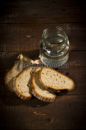 water bread symbol hungry thirst suffer