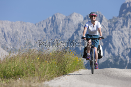 teenage girl on a bicycle tour