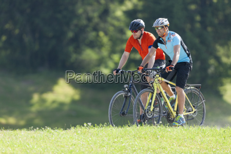 two men on a bicycle tour