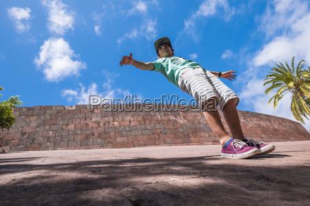 spain la gomera boy standing tilted