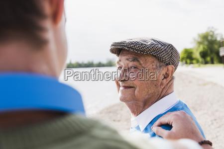 portrait of smiling senior man looking