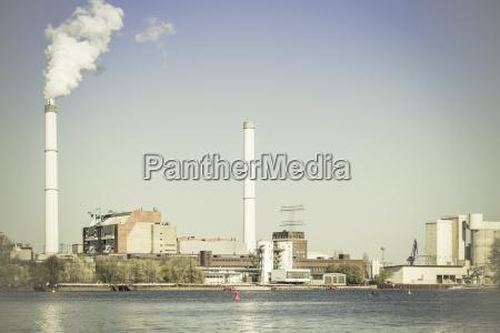 fumo industria centrale elettrica nuvola allaperto