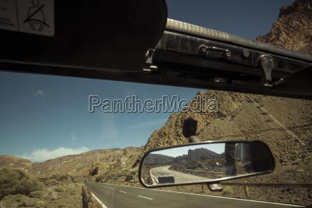 spain tenerife car at the roadside