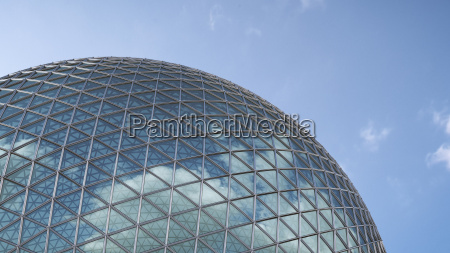 part of glass dome with reflection