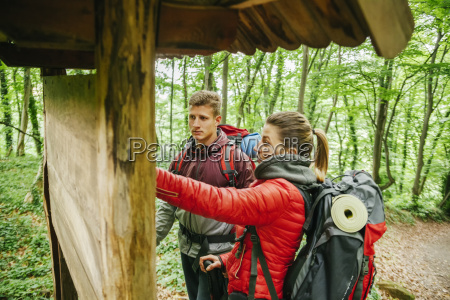 serbia rakovac young couple hiking