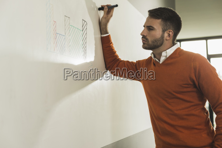 young man in office looking on