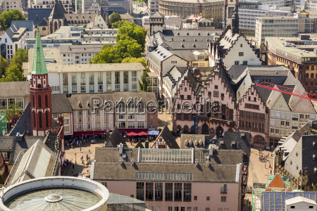 germany hesse frankfurt cityview roemerberg with