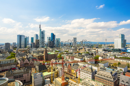 germany hesse frankfurt cityview with financial