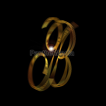 letter b in gold