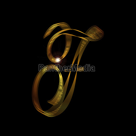 letter f in gold