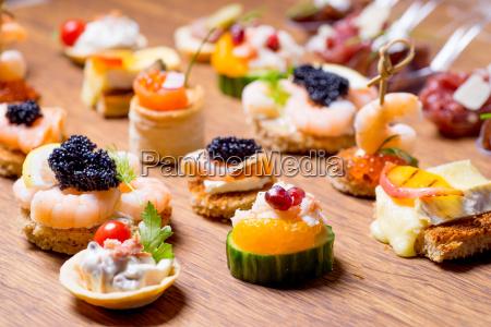 udsogt udvalg af luksus appetitvaekker