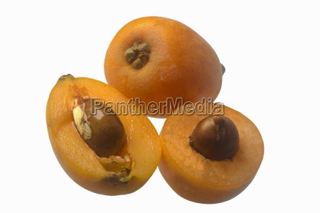loquats whole and halved