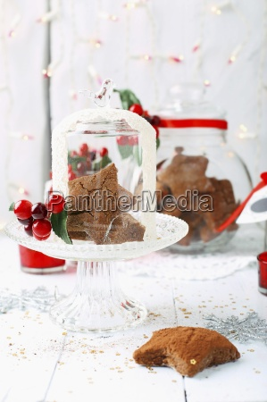 gluten free gingerbread with christmas decorations