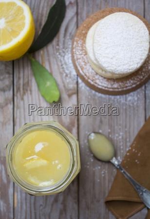 a jar of homemade lemon curd