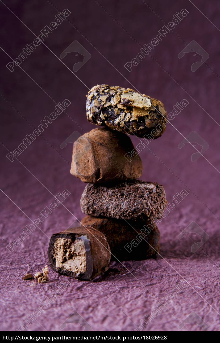 a, stack, of, pralines, on, a - 18026928