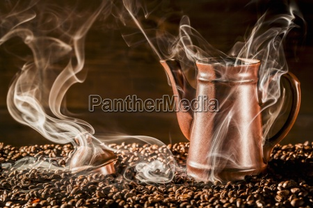 a jug of coffee on aromatic