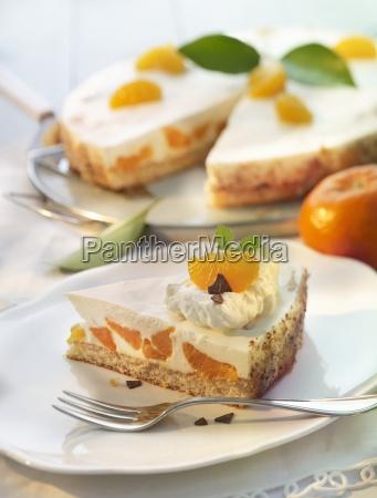 mandarin tart with a quark and