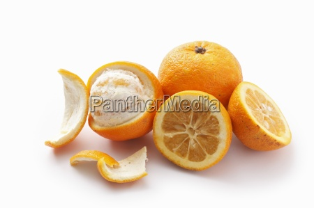 bitter oranges whole halved and peeled