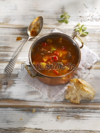goulash soup and white bread