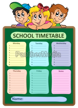 weekly school timetable theme 5