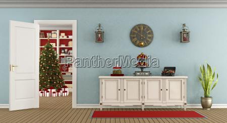 sala de estar retro con decoracion