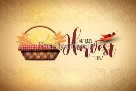vector autumn harvest festival poster design