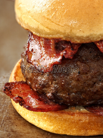 rustic carnivore meat lover hamburger